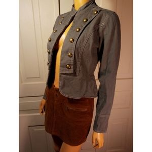 Military jacket olive army green steampunk gothic